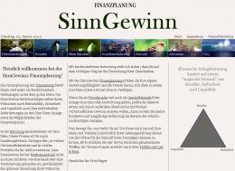 Arbeitsprobe ROTER FADEN-PR - Text Startseite SinnGewinn Finanzplanung