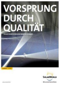 Arbeitsprobe ROTER FADEN-PR - Solarworld Qualitätsbroschüre